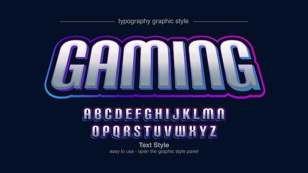 Futuristische bunte sport-künstlerische typografie