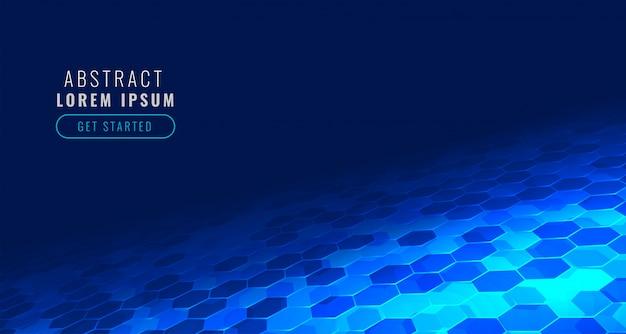 Futuristische digitale sechseckige technologie im perspektivenarthintergrund