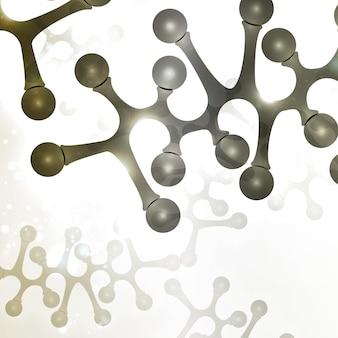Futuristische dna-abstrakte molekülzellillustration