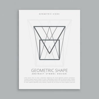 Futuristische geometrische form
