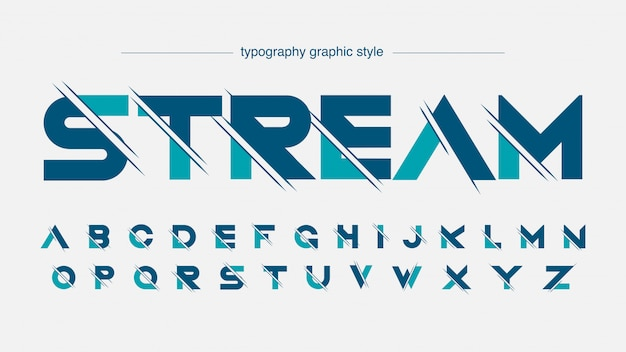 Futuristische geschnittene typografie