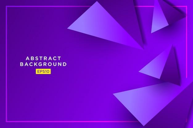 Futuristische grafik des abstrakten purpurroten 3d hippies der dreiecke