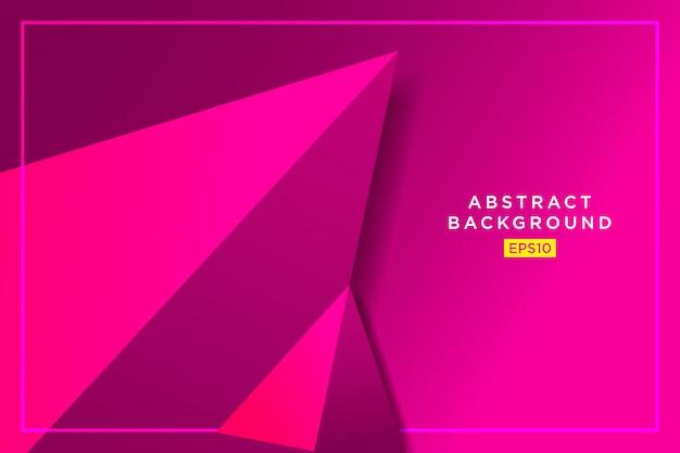 Futuristische grafik des abstrakten rosa 3d-dreiecks hippies