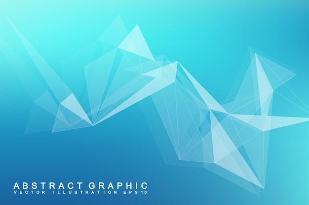 Futuristische hintergrundkommunikation, globalisierung. linien und punkte, die mit der science-fiction-szene verbunden sind. moderne vektorvorlage für ihr design