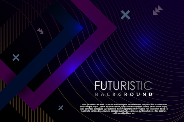 Futuristische hintergrundschablonenzusammenfassung mit neoneffekt der steigung