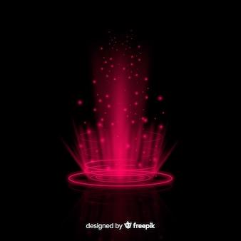 Futuristische hologrammschnittstelle mit farbverlauf