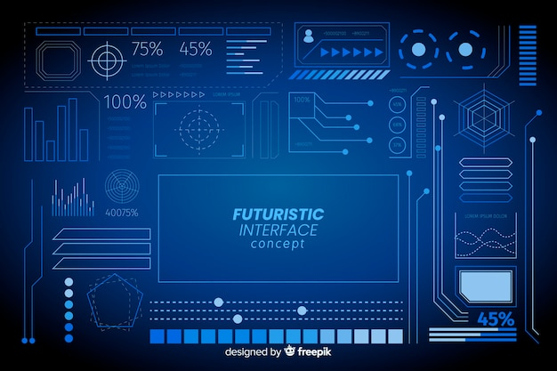 Futuristische inforgraphic elementsatz