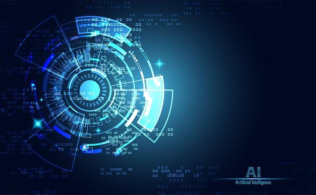 Futuristische leiterplatte der abstrakten technologieinnovation