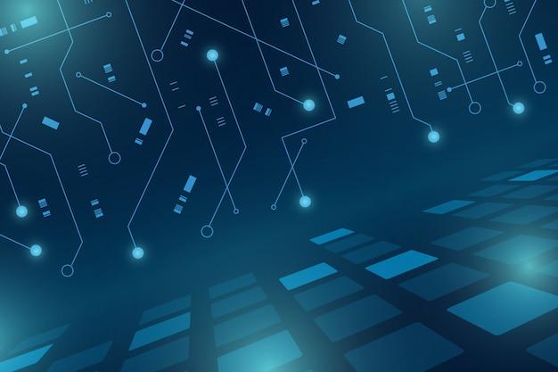 Futuristische leiterplatte, elektronische hauptplatine, kommunikations- und engineering-konzept, high-tech-konzept für digitale technologie