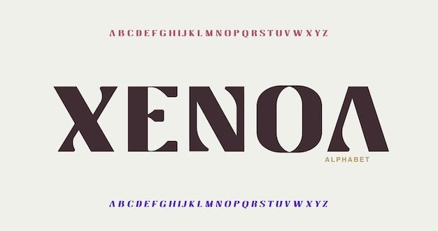 Futuristische moderne technologie. moderne alphabet-schriften