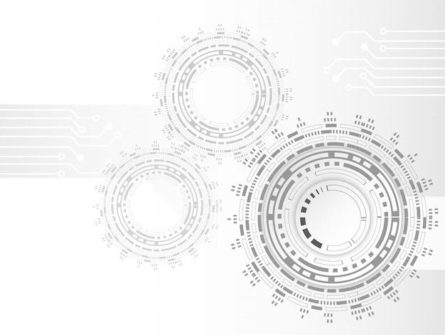 Futuristische saubere technologiezahnrad-technologie-leiterplatte