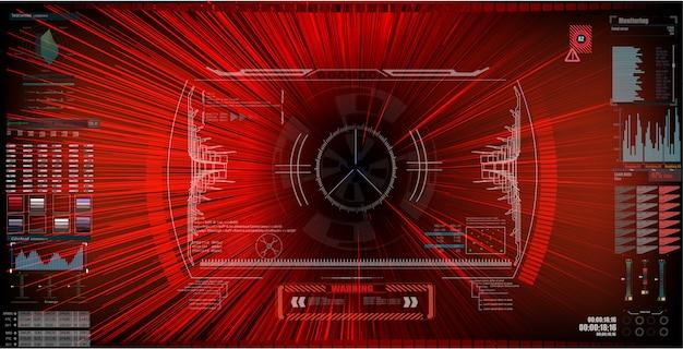 Futuristische sci-fi-hud-bildschirmoberfläche