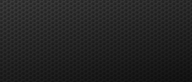 Futuristische sechsecke tech hintergrund schwarze geometrische polygonale fliesen strukturiert