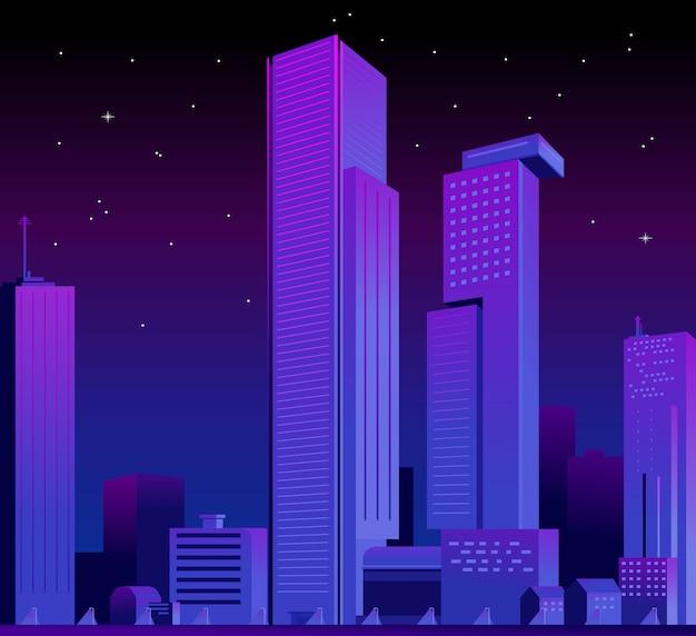 Futuristische skyline der stadt