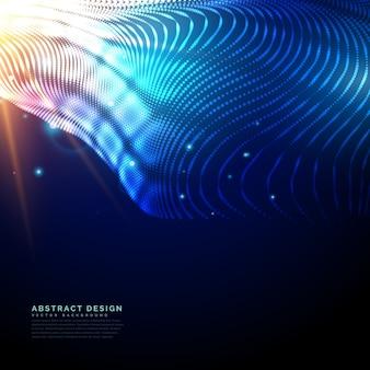 Futuristische technologie hintergrund mit glühenden partikel mit lichteffekt gemacht