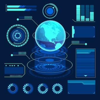 Futuristische technologie infografik