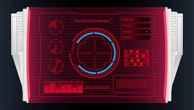 Futuristische technologie schnittstelle hud ui banner.
