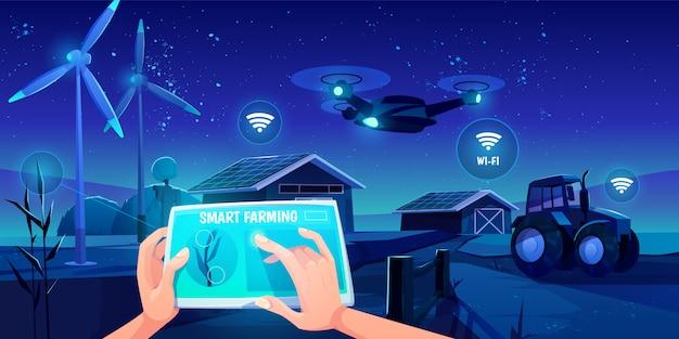 Futuristische technologien in der farm