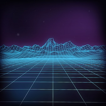 Futuristische vektorabbildung 3d