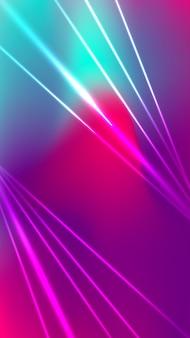 Futuristische verschwommene mobile tapete mit neonlichtformen