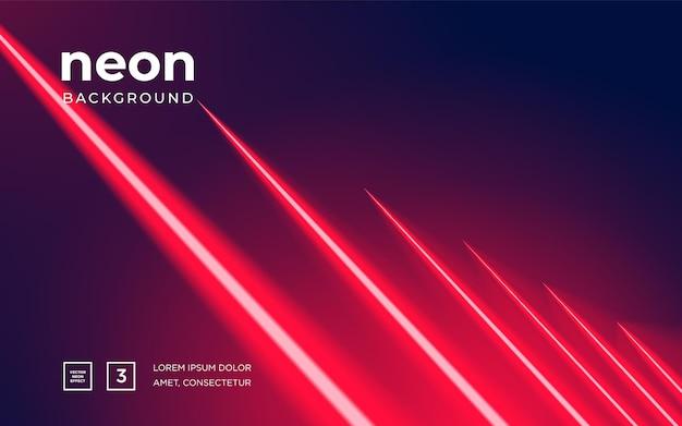 Futuristischer abstrakter bunter vektorhintergrund mit glühenden elektrischen hellen neonlinien