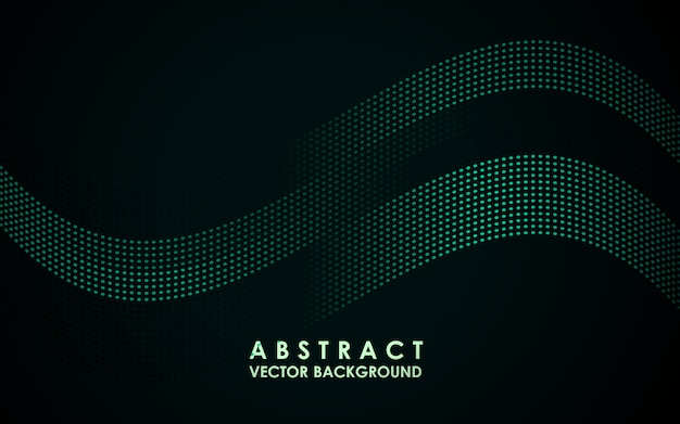 Futuristischer abstrakter hintergrund mit gewellten partikeln