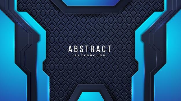 Futuristischer abstrakter hintergrund mit kombinierten leuchtenden lichtpunktlinien der kombination