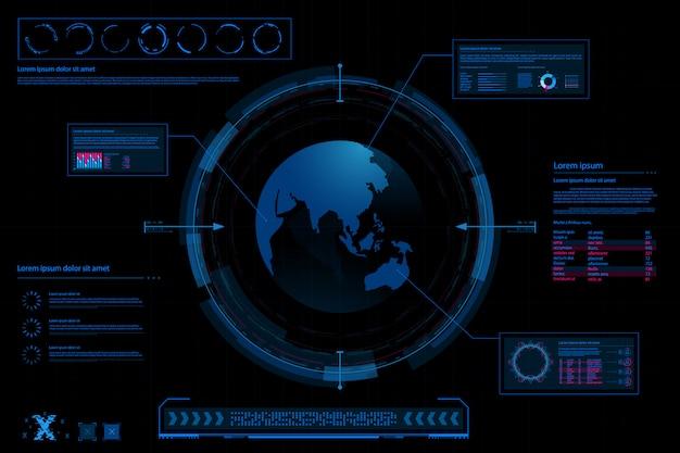 Futuristischer abstrakter hintergrund. zukunftsthema konzept hintergrund. daten-dashboard, diagramm, digitales konzept