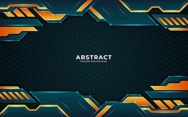 Futuristischer abstrakter luxushintergrund mit leuchtenden lichtpunktlinien der kombination premium-vektor