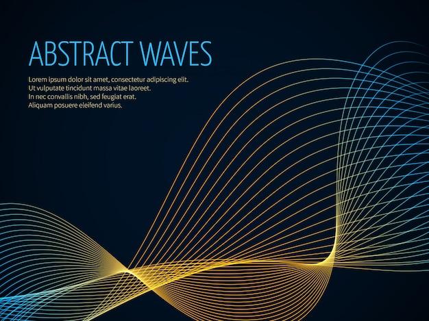 Futuristischer abstrakter vektorhintergrund
