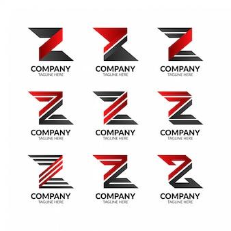 Futuristischer buchstabe z logo collection