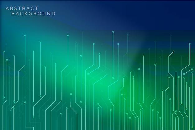 Futuristischer cyber-hintergrund mit farbverlauf