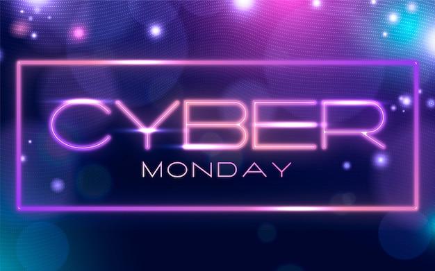 Futuristischer cyber monday verkaufshintergrund