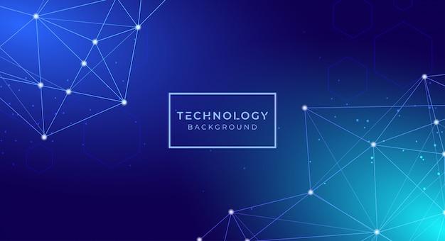 Futuristischer digitaler abstrakter technologiehintergrund