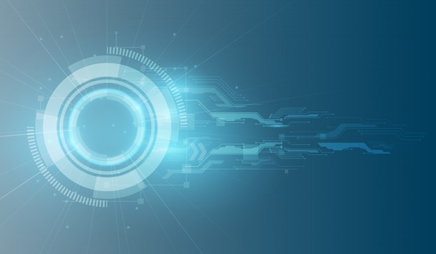 Futuristischer digitaler hintergrund der technologie