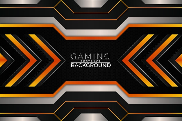 Futuristischer gaming-hintergrund orange style