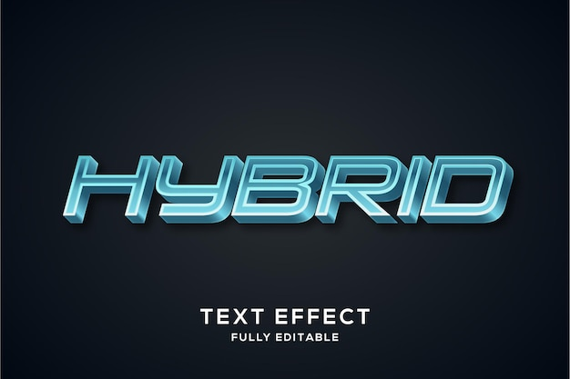 Futuristischer glänzender blauer texteffekt