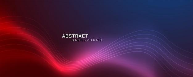 Futuristischer glänzender wellenförmiger abstrakter hintergrund