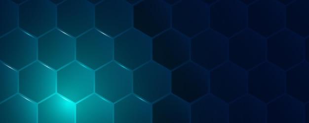 Futuristischer hexagonaler abstrakter technologiehintergrund.