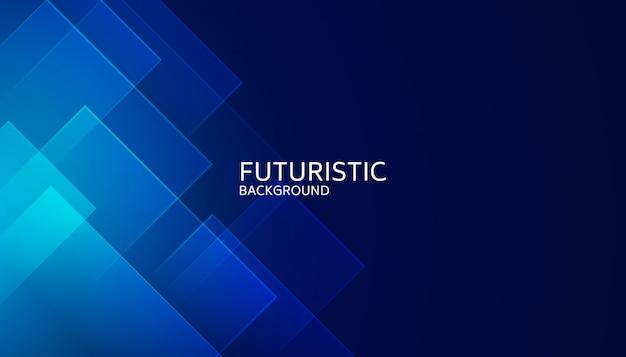 Futuristischer hintergrund der abstrakten blauen geometrischen form