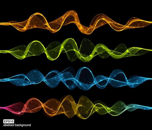 Futuristischer hintergrund der abstrakten lichtwelle der sammlung.