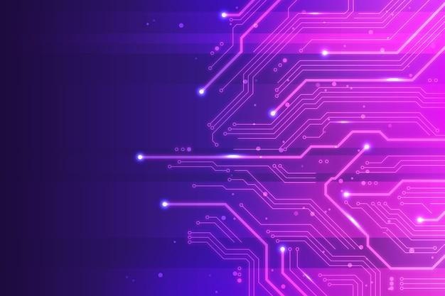 Futuristischer hintergrund der farbverlaufstechnologie