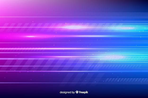 Futuristischer hintergrund der glühenden hellen bewegung
