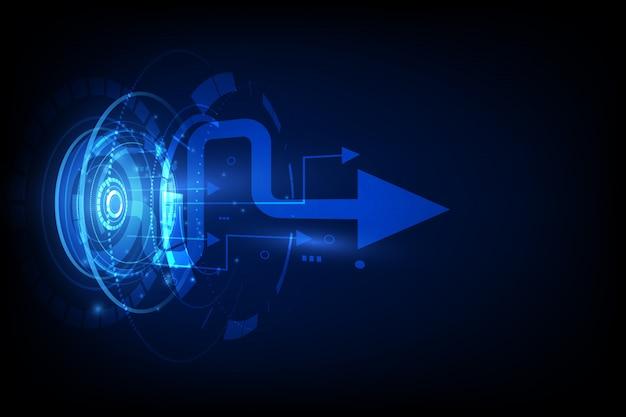 Futuristischer hintergrund der high-techen geschwindigkeitsverbindung