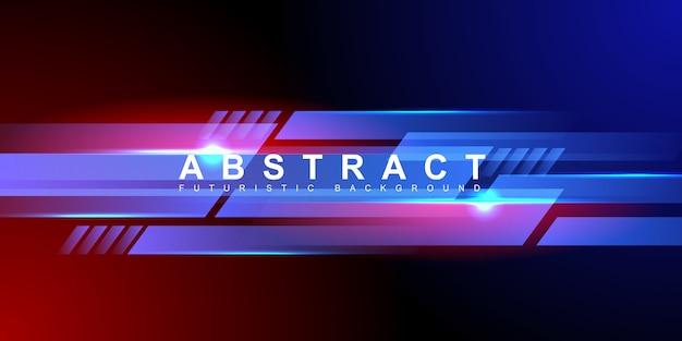 Futuristischer hintergrund des abstrakten blaulichts der leuchtenden geschwindigkeit