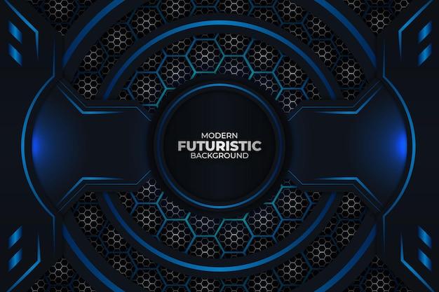 Futuristischer hintergrund dunkel und blau