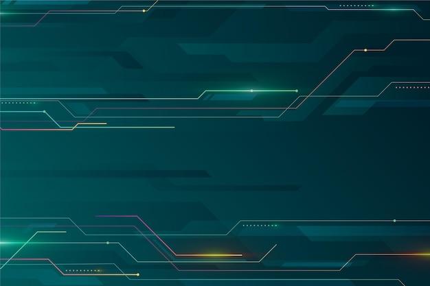 Futuristischer hintergrund mit farbverlauf