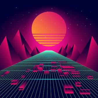 Futuristischer hintergrund-vektor