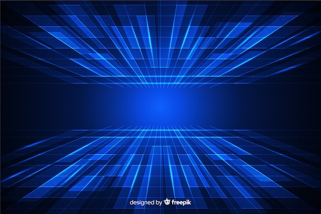 Futuristischer horizonthintergrund cyberspace