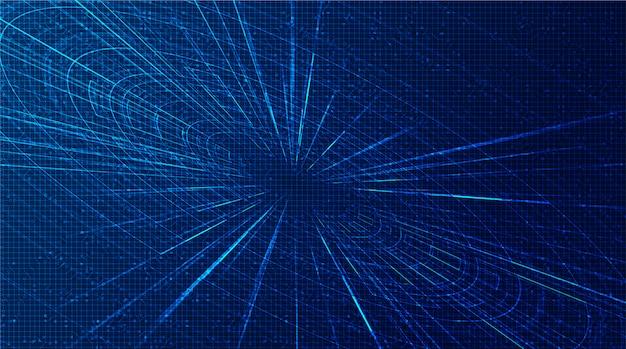 Futuristischer hyperraumgeschwindigkeits-bewegungshintergrund